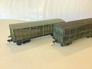 """NSWGR - Two (2) Wagons, One Bogie Cattle """"BCW"""" - One Bogie Sheep """"BSW"""", KD's, GC"""