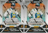 (2) 2019 Panini PRIZM Racing NASCAR Trading Cards 24ct. BlasterBox LOT CamoPrizm