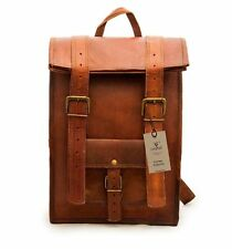 Day bag Genuine vintage Leather Bag Rucksack Backpack Travel Walking Handmade