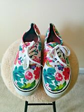 AIRWALK Sneakers  Flowers Canvas Size 12 Non Marking Low Top Women Shoes