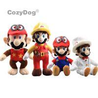Super Mario Odyssey Cappy Mario Firefighter Diddy Kong Wedding Mario Plush Toys