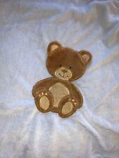 Baby Starters Blue Velour Brown Bear Blanket