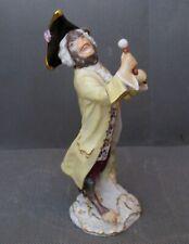 2873* figurine porcelaine meissen singe monkey musician  ancien