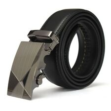 o Negro Cuero Automatico Informal Hombre Pretina Correa de cintura Cinturon V5I6