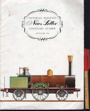 1954 VICTORIAN RAILWAYS  CENTENARY NEWSLETTER History galore Victoria Australia