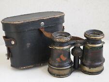 antikes Fernglas + Tasche, um 1910, 1 WK, mit Kompass, für Sammler