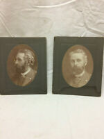 2 Vintage Cabinet Card Photographs of Men
