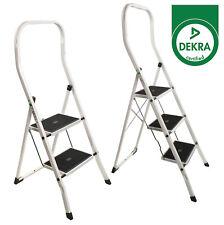 Haushaltsleiter 150kg Klapptritt 2-3 Stufen Stehleiter Stahl Trittleiter Leiter3