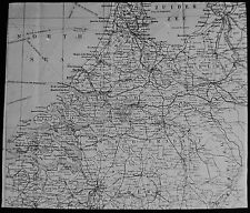 Glass Magic Lantern Slide Map Of The Netherlands C1900 Drawing Holland