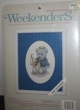 "Weekenders Counted Cross Stitch Kit ""Sailor Bear"" with Mat NEW"