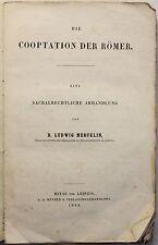 Mercklin Die Cooperation der Römer Sacralrechtliche Abhandlung 1848 Geschichte
