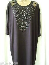NEW £75 BIBA SIZE 10 BLACK JERSEY TUNIC DRESS