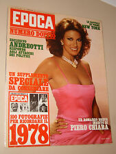 EPOCA=1978/1473=RACHEL WELCH=PIERO CHIARA=ALEX HALEY=JACQUES MESRINE=TOPOLINO=