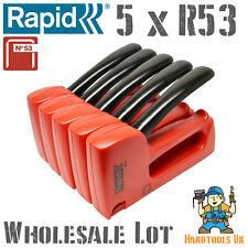 5 x RAPID R53 LEGGERO Mano Tacker / cucitrice per all' ingrosso