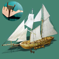 1:130 Scale Wooden Wood Sailboat Ship Kits Home Model Decoration Boat Gift Toy