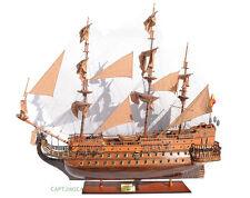 "Huge 1690 San Felipe 88"" Wooden Tall Ship Model Spanish Warship Galleon"