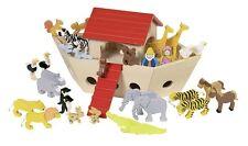 Arche Noah Goki Holz Kinder 51846 Holzspielzeug Holztiere Tiere Spiel Schiff Set