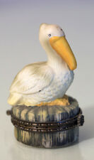 Vintage Trinket Jewlery Box with ceramic Pelican