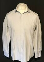 "Nicole Miller New York Men's Shirt Blue White Striped 15.5"" 39-40"