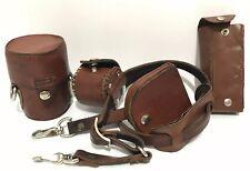Camera Lens Strap Neck Shoulder Leather Holder Photographer Crafted Handmade Vtg