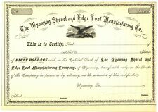 Wyoming Shovel and Edge Tool Manufacturing Company. Stock Certificate