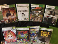 LOT OF XBOX 360 GAMES Walking Dead Fable Halo Borderlands, Elder Scrolls, Sonic