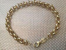 "Eternal Gold 14k Rolo Bracelet Yellow Gold 8"" Italy"