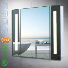 Bathroom LED Mirror Cabinet Cupboard CE Shaver Socket Demister Sensor Lights UK