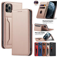 For iPhone 12 Pro Max 11 Xr 8 7 6 Plus Magnetic Flip Leather Wallet Case Cover