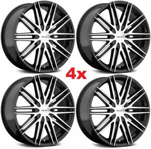 18 MACHINED BLACK WHEELS RIMS DUB LEXANI ASANTI 6X120 6X127