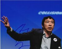 ANDREW YANG 2020 PRESIDENTIAL CANDIDATE SIGNED 8x10 PHOTO B MATH w/EXACT PROOF
