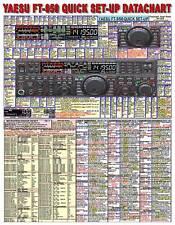 YAESU FT-950 AMATEUR HAM RADIO DATACHART (2-SIDED GRAPHIC INFORMATION (INDEXED)