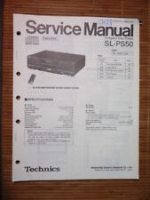 Service-Manual TECHNICS sl-ps50 lettore CD, ORIGINALE