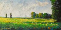 sunny meadows impressionist California LANDSCAPE PAINTING Semberecki
