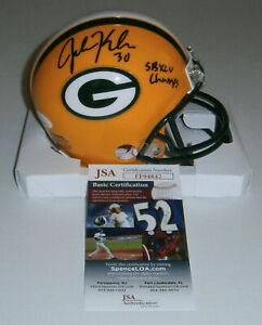 PACKERS John Kuhn signed mini helmet w/ SB XLV Champs JSA COA AUTO Autographed