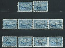Canada #OC8(3) PERFIN 7 ct R.C.A.F Training Plane OFFICIAL O.H.M.S.10 Used CV$5.