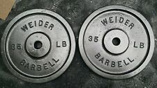 Vintage Pair Weider 35 lb Weight Plates 2x35 pounds Hard To Find Size Standard