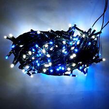 Luci di Natale a 180 Led Bianchi + Blu Uso Interno ed Esterno con Trasformatore