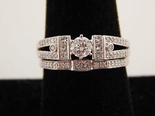 Unique Stunning 1.08 tcw Designer Round Diamond Wedding Set E/VS 14k WG Ring