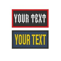 "Custom Embroidered Name Tag Sew on Patch Rocker MC Biker 1 Line  4"" x 2"" (B)"