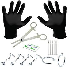 BodyJ4You Pack of 15 Nose Piercing Studs Kit Body Piercing Needles 18G or 20G
