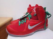 2012 Nike Air Lebron 9 X-mas Christmas Red Green sz 13