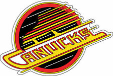 "Retro Vancouver Canucks NHL Bumper sticker, wall decor, vinyl decal, 5""x 3.4"""