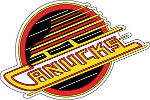 "Retro Vancouver Canucks NHL Bumper sticker, wall decor, vinyl decal, 5""x 3.4"""
