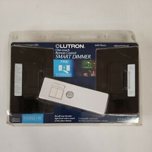 LUTRON ONE TOUCH REMOTE CONTROL SMART DIMMER - MIR-603THW-BR BROWN New In box