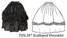 Civil War Style SCALLOPED OVER SKIRT Timeless Stitches PATTERN TSS-207