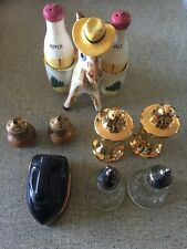 Assorted Lot of 5 Different Salt and Pepper Shakers