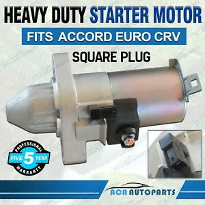 Starter Motor for Honda Accord EURO CL CM CP CR CU 2.4L CRV RD RE RM SQUARE PLUG
