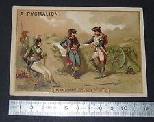 GRAND CHROMO 1880-1900 GRANDS MAGASINS PYGMALION PARIS BONAPARTE SIEGE TOULON