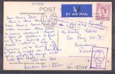 S.rhodesia, qe11, 1968 Postal desde Reino Unido a Rodesia, Bonita Sellos X 2, impuesto Marca